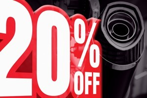 20% off exhausts until 2nd December 2019