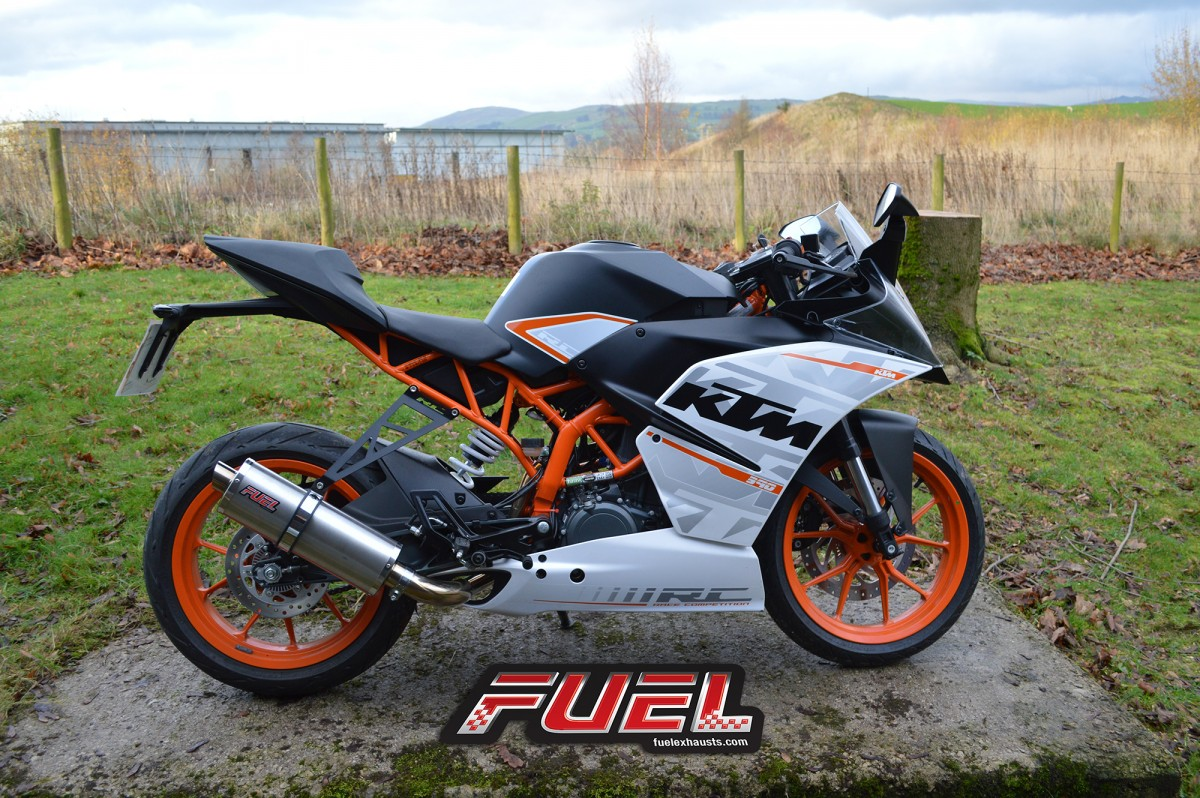 rc 390 2014 15 motorbike exhausts fuel exhausts. Black Bedroom Furniture Sets. Home Design Ideas