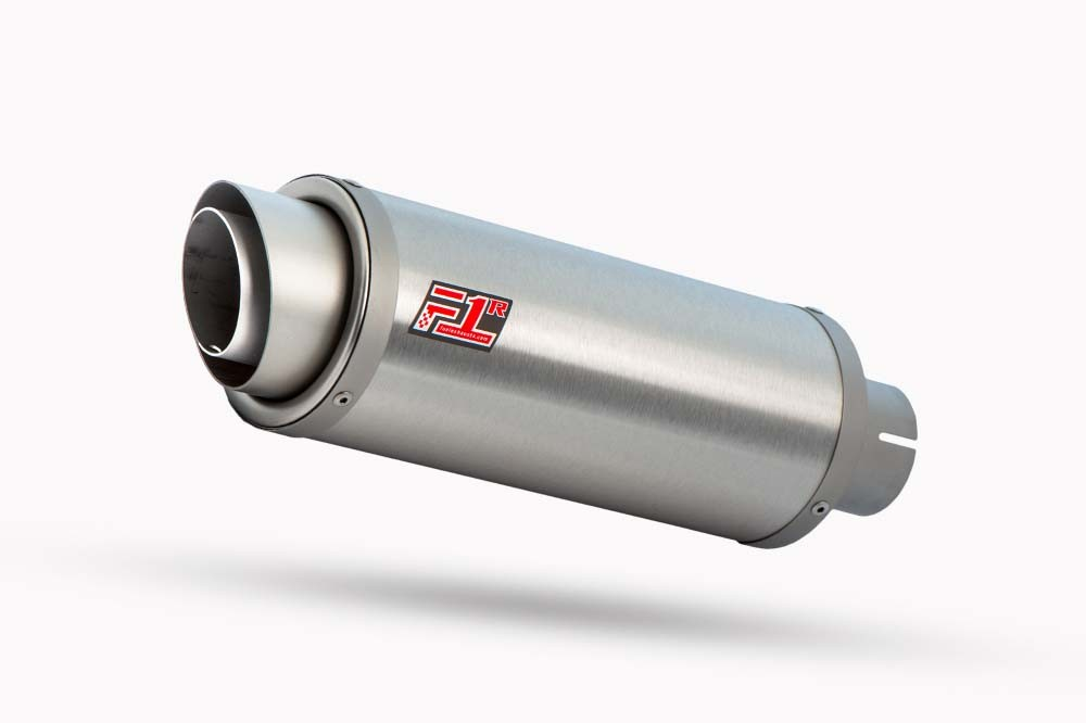 F1R Race Brushed Stainless Round Exhaust