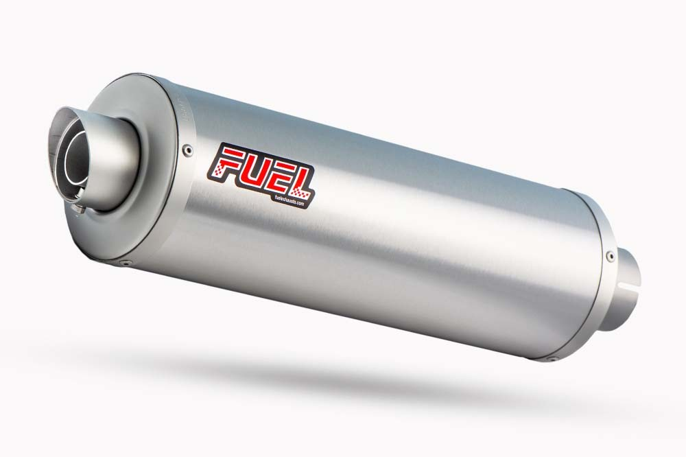 Slash Brushed Stainless Round Exhaust